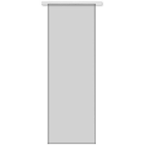 Transparenter Flächenvorhang Voile 60x245 cm wahlweise mit und ohne Technik, schlichte und stilvolle Fensterdekoration in vielen verschiedenen Farben erhältlich (grau - lichtgrau / ohne Technik)