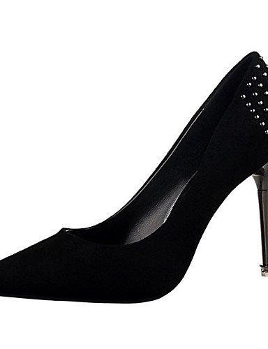WSS 2016 Chaussures Femme-Décontracté-Noir / Rose / Rouge / Gris / Corail / Bordeaux-Talon Aiguille-Talons-Talons-Laine synthétique pink-us5 / eu35 / uk3 / cn34