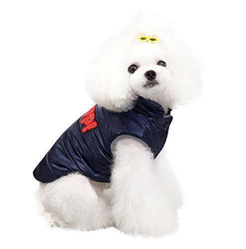 Haustier Katze Hund Warm Mantel Jacke,Haustier wasserdichte Hundeweste Bekleidung Kleidung Kleine mittlere große Haustier Hund Katze Bekleidung Herbst Winter TWBB -