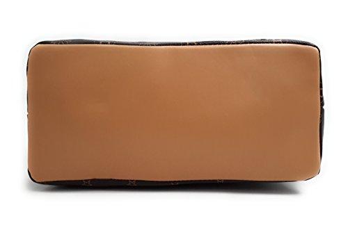 CONTRO VENTO - Art. 527, Borsa da donna, Borsa a spalla e a mano con tracolla Caffè