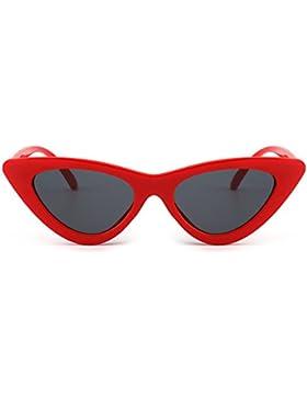 Gafas de Sol Retro Ojos de Gato Clout Goggles Lentes Lindos Plásticos Teñido Anteojos Mujer