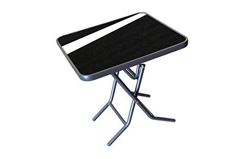 Irta Table pliante anthracite 70 x 70 cm