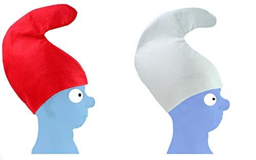 Schlümpfe Kostüm Kinder - Unbekannt 2 x Zwergenmütze je 1