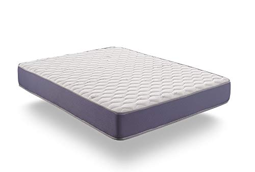 naturalex | Matelas Geltech 140x190 cm | Technologie Blue Latex Mousse À Memoire Memo Fresh A Cellules Ouvertes | Thermorégulant Athermique 7 Zones