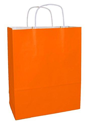(Thepaperbagstore 30 Orange Drehgriff Papiertragetaschen 250 x 110 x 310mm - Wählen Sie Ihre Größe und Farbe)