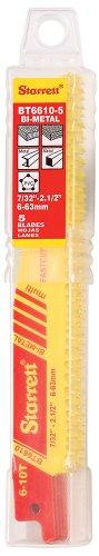 Starret BT6610-5 Lot de 5 lames Bi-métal pour scie sabre