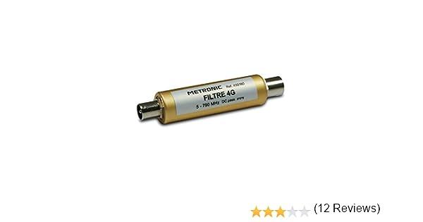 Connexion fiche TV 9,52mm M/âle Femelle LTE pour antenne TV hertzienne UHF Metronic 432160 Filtre 4G