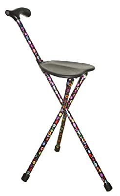 Switch Sticks Three Legged Seat Stick with Bubbles Design