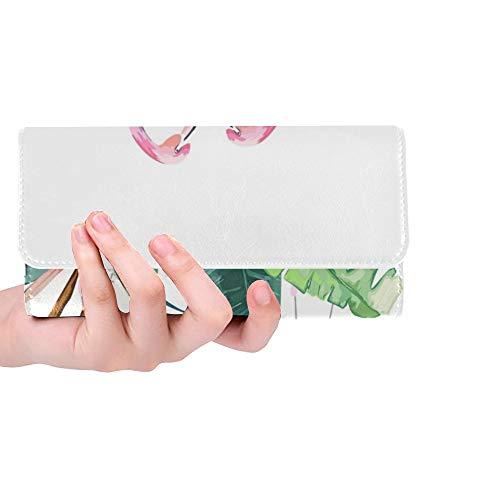 rdefinierte Paar rosa Flamingos Tropical Print Einladung Frauen Trifold Wallet Lange Geldbörse Kreditkarteninhaber Fall Handtasche ()