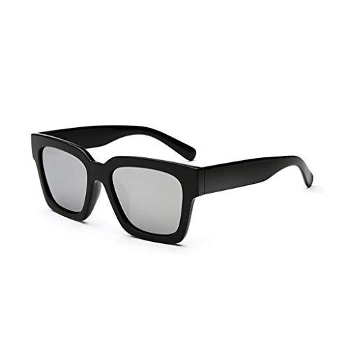 Sonnenbrille Persönlichkeit Flut Menschen Rundes Gesicht Polarisierte Sonnenbrille Langes Gesicht Männliche Retro Brille Große Schachtel Quadratische Sonnenbrille Anti-UV Weibliche Brillen (