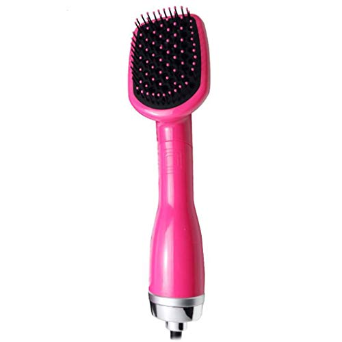 Brosse à air chaud, Hot Air Brush One-Step 2 in 1 Sèche-cheveux Volumizer Salon multifonctionnel Ion Négatif Défriser Les Cheveux Cheveux Bouclés Peigne (Couleur : Red)