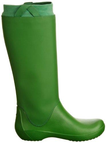 Crocs RainFloe 12424 Damen Gummistiefel Grün (Kelly Green/Kelly Green 34A)