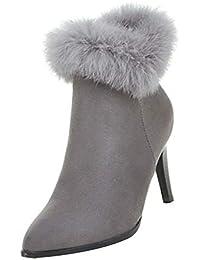 83d6ea6c623a uirend Bottes de Neige Femmes - Mode Hiver Élégant Bottines Talons Hauts  Chaussures Bottes et Bottines