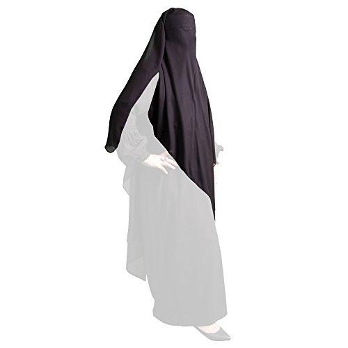 Triangel Niqab / Burka - SCHWARZ - Dreieck Muslim Jilbab Abaya Hijab Islamische Kleidung 11-0001