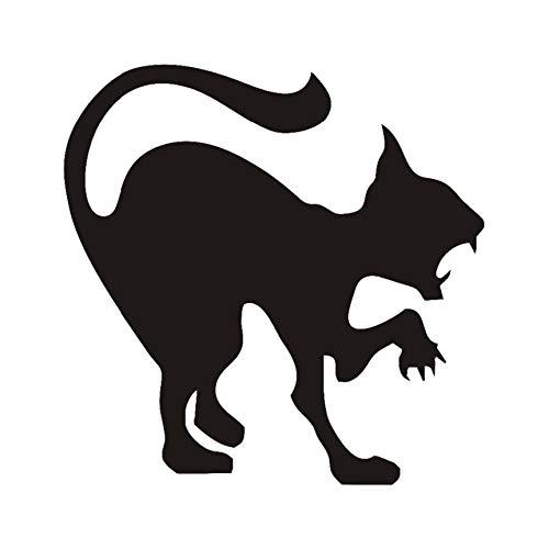 Schwarze Katze Halloween Dekoration Beängstigend Pfeife Katze Vinyl Wandkunst Aufkleber, Bravo Katze Halloween Dekoration Zubehör 44 * 44Cm ()