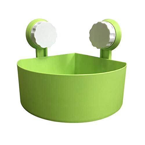 DIPOLA Kunststoff-Saugnapf Badezimmer-Küchenecke Lagerregal Ablagenregal Duschregal (weiß, rosa, grün, blau) Saugnapf-Badregal