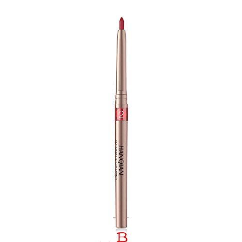 Yogogo Eyeliner, Maquillage Imperméable Cosmétiques Eye Liner,Crayon imperméable à l'eau pour les lèvres, maquillage professionnel Lipliner, 11 couleurs