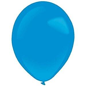 amscan 9905426 50 - Globos de látex estándar, Color Azul