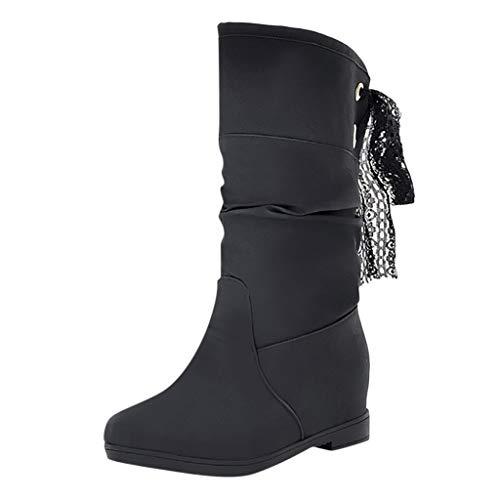 ❤Loveso❤ Classics Warm Gefüttert Stiefel & Stiefeletten Große Größen Stiefel Bequeme Wärme Stiefel Boots für Damen Mädchen