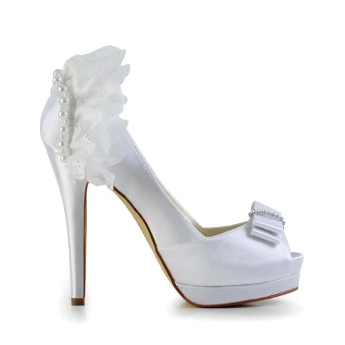 ... Jia Jia Wedding 40913 Scarpe Sposa Scarpe col tacco donna Bianco ...