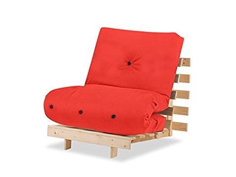 Humza Amani Wood Luxury 1 Seater Metro Futon Sofa Bed