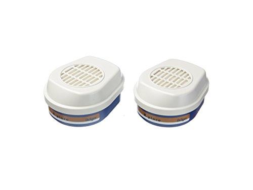 Dräger X-plore Bajonett Kombinations-Filter A2 P3 für Gase und Partikel | 1 Paar | Ersatzfilter für Voll- und Halbmasken X-plore 3300, 3500 und 5500 A2 By Aerosoles