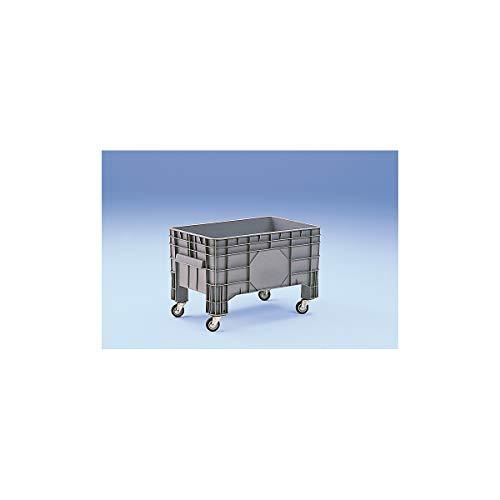 Conteneur grande capacité en polyéthylène - capacité 220 l, 4 pieds et 4 roulettes pivotantes - 1 pièce et + - Conteneur Conteneur de stockage Conteneur en plastique Roll-conteneur Bac de stockage Bac-chariot Bacs de stockage Bacs-chariots Caisse de