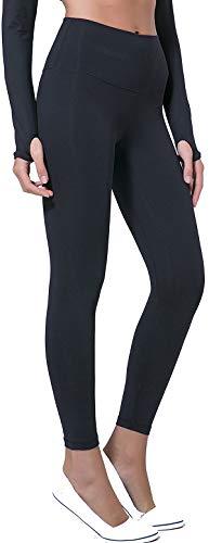 Chaos World Sporthose Damen High Waist Sport Leggings Elastische Tummy Control Yogahose Jogginghosen (Schwarz,L/Tag 10) -