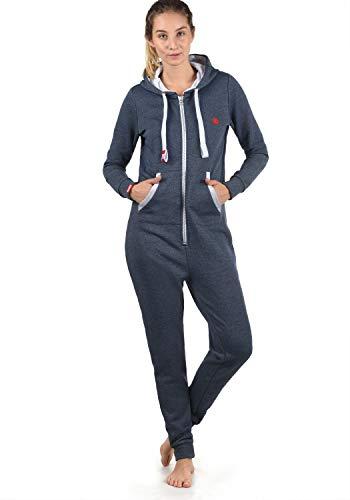 DESIRES Benna Damen Jumpsuit Overall Einteiler Mit Kapuze, Größe:XXL, Farbe:Insignia Blue Melange (8991)