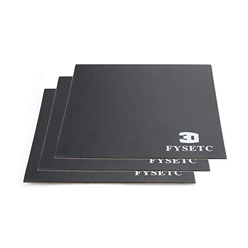 """Price comparison product image FYSETC 3D Printer Build Plate,  120X120 mm / 4.7""""X4.7"""" Heated Bed Sheet Build Surface with Adhesive Backing Platform for Monoprice Select Mini v2 Printer Parts"""