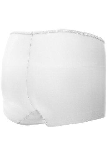 Unterhose Slip Panty mit Silikonsaum unsichtbar unter der Kleidung Naomi & Nicole Edgies Weiß