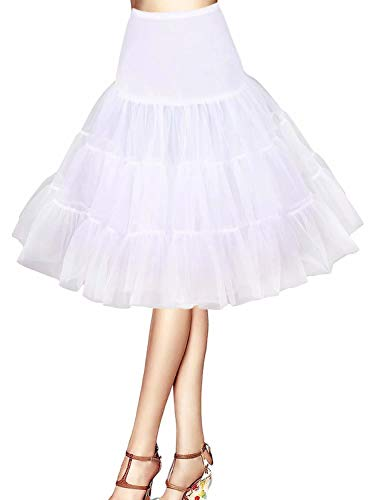 Jupons Crinolina Hoopless Jupe Tulle Tutu 50s Abito Jupon Tulle Rockabilly Retro Underskirt Battente Vintage Petticoat Jupons Rock Roll 50s Vintage Retro Jupon Bal de Jupon Tulle Court