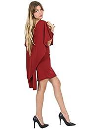 Sunshine - Robe sans manche avec un voile aux épaules donnant un effet de cape - Femme
