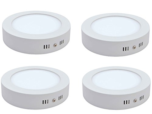 DMT 22W LED Panel Lights no false required; Surface panel Round Shape (Pack of 4)