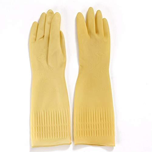 JTSYHhaushalt naturlatex handschuhe küche, saubere wäsche waschen die beweise wasserdicht gummi - handschuhe trägt,trompete -