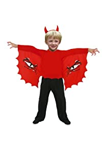 César - Disfraz de diablo para niño, talla 12 años (C842-003)