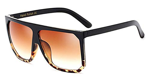 Sonnenbrille Mode In Übergröße Frauen Quadratische Sonnenbrille Designer Classic Sommer Standard Farben Flat Top Frame Brille Schwarz Leopard Kaffee