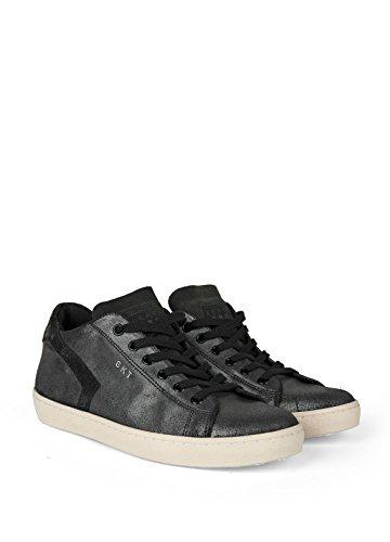 Sneaker Leather Crown-Basse cuir laminé Gris