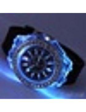 Unisex-Sport-Quarz-analoge Armbanduhr beleuchtet LED Licht