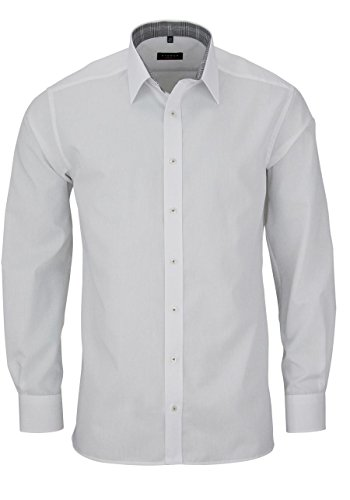 eterna - Chemise casual - Uni - Homme Weiß