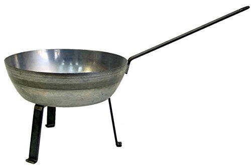 IMEX EL ZORRO Sartén de Hierro con Patas, diámetro 26 x 10 cm
