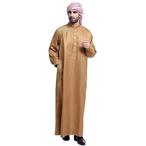Pudincoco TH804 Hombres Túnica Musulmana Árabe Oriente