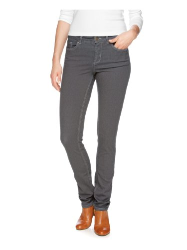H.I.S. - Jeans slim fit, donna, Grigio (Grau (medium warm grey)), 48 IT (34W/33L)
