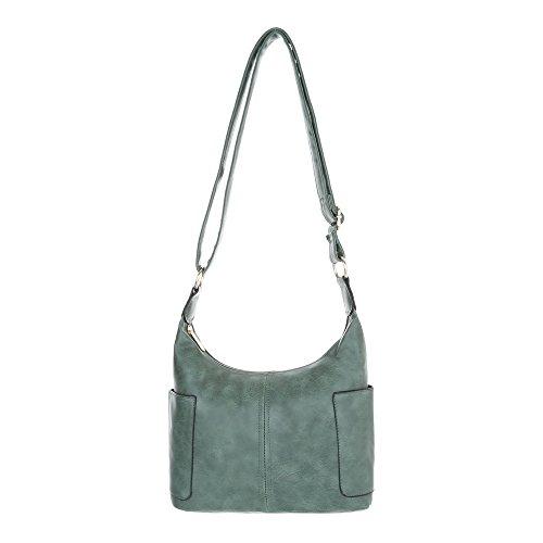 Borsa A Tracolla Piccola Donna Ital-design In Similpelle Ta-s2508 Verde Usata
