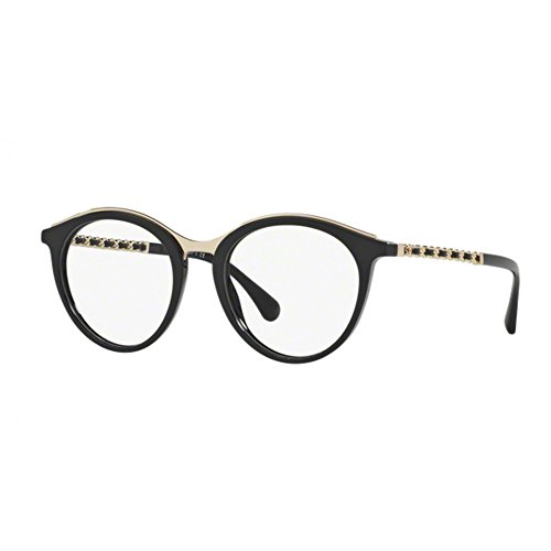 occhiale-da-vista-chanel-ch3349q-c501-cal49-nero-black-montatura-eyeglasses-new
