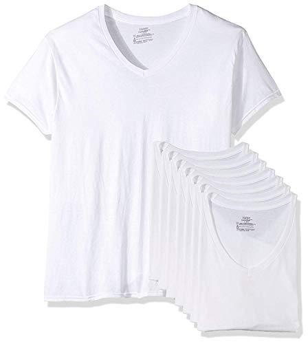 Hanes V-neck T-shirts (Hanes Men's 7 Pack Comfortsoft Tagless V-Neck T-Shirt (Bonus Pack))