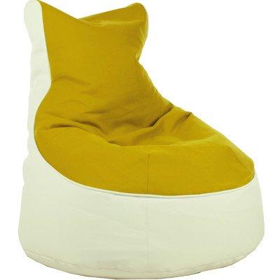 Sitzsack Lotos-Genua Farbe (Genua): Gelb, Farbe (Lotos): Weiß