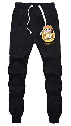 Cosstars Anime Himouto! Umaru-chan Sweatpants Jogginghose Cosplay Kostüm Lange Trousers Sporthose Trainingsanzug mit Taschen Schwarz 2 M (Umaru Doma Kostüm)