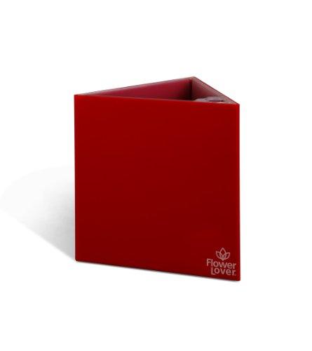 Flower 41118150 Lover Triangle Cache-Pot avec Système d'Irrigation Rouge 27 x 27 x 42 cm