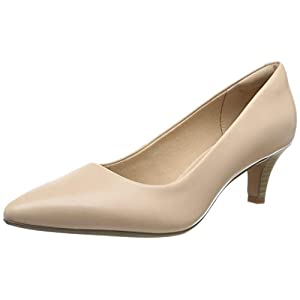 Clarks Women's Linvale Jerica Closed-Toe Pumps, Pink (Blush Leather), 7.5 UK (41.5 EU)